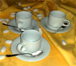 S056 TAZZA CAFFE CON PIATTINO IN PORCELLANA TOGNANA